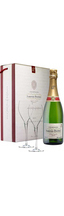 Brut Laurent-Perrier gift box with 2 glasses